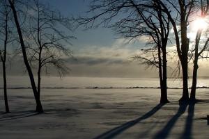 Sun over lake miki